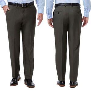 Haggar Classic Flat Front Dress Pant 33 Stretch